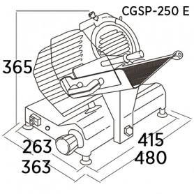 CORTADORA DE FIAMBRES CGSP-250E EDENOX