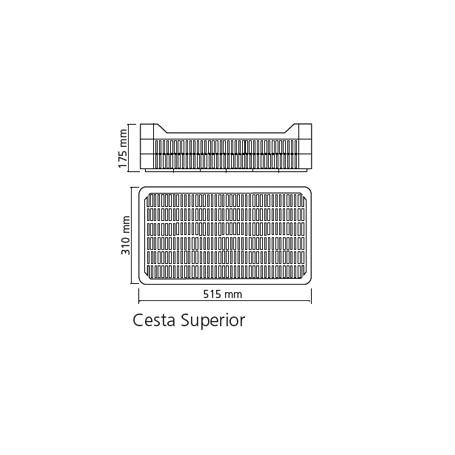 CESTA SUPERIOR PARA ARMARIOS APS 651 Y ANS 651