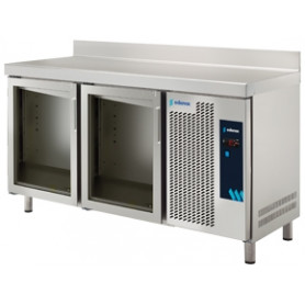 MESA REFRIGERADA PTAS. CRISTAL MPG-135-PC EDENOX - MEDIDAS 1342 X 700 X 850 MM. FONDO 700