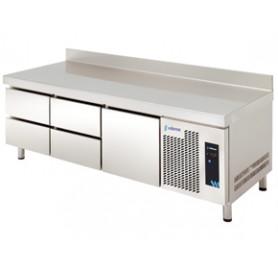 MESA REFRIGERADA ALTURA ESPECIAL 600 mm. MPGB-180 5C - 5 CAJONES -  EDENOX